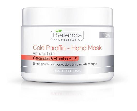 Bielenda zimna parafina maska do dłoni z masłem she 150 g