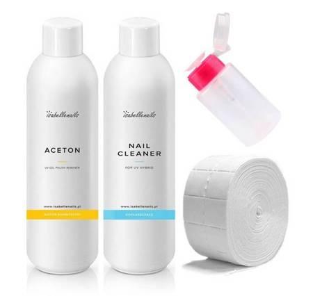 Cleaner + Aceton 1000 ml GRATIS waciki dozownik