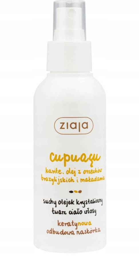 Ziaja Cupuacu Suchy olejek krystaliczny do twarzy, ciała i włosów 100 ml