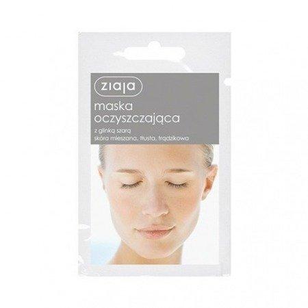 Ziaja Maska oczyszczająca z glinką szarą 7 ml